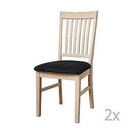 Sada 2 dubových židlí Knuds Mette