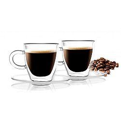 Sada 2 dvojitých hrnků Vialli Design Amo Espresso, 50ml