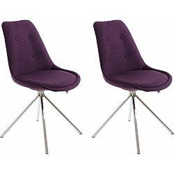 Sada 2 fialových jídelních židlí Støraa Dylan