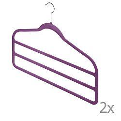 Sada 2 fialových ramínek na kalhoty Domopak Living