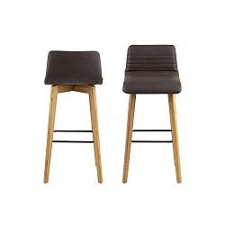 Sada 2 hnědých barových židlí Actona Arosa