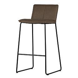 Sada 2 hnědých barových židlí WOOOD Evan