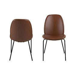 Sada 2 hnědých jídelních židlí Actona Carmen Brandy