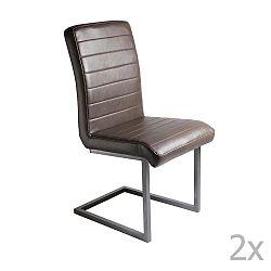 Sada 2 hnědých jídelních židlí RGE Toscana Simple