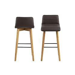 Sada 2 hnědých židlí Actona Arosa