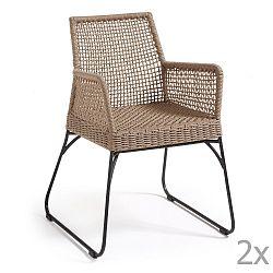 Sada 2 hnědých židlí La Forma Novak