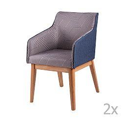Sada 2 jídelních židlí sømcasa Beth