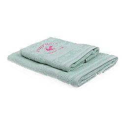 Sada 2 mentolově zelených ručníků Beverly Hills Polo Club Tommy Orj