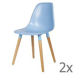 Sada 2 modrých židlí De Eekhoorn Roef