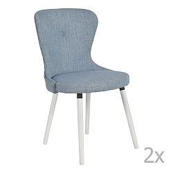 Sada 2 modrých židlí RGE Betty