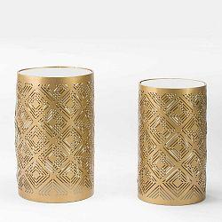 Sada 2 odkládacích stolků ve zlaté barvě Thai Natura Luang