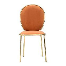 Sada 2 oranžových jídelních židlí Mauro Ferretti Emily