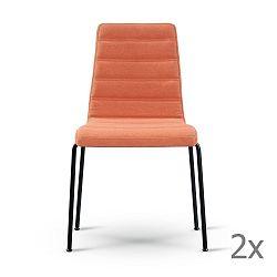 Sada 2 oranžových židlí s černýma nohama Garageeight
