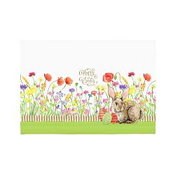 Sada 2 prostírání Apolena Easter Eggs With Rabbit, 33x45cm
