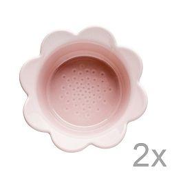 Sada 2 růžových misek Sagaform Piccadilly Květinky, 13x6,5cm