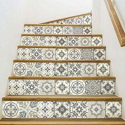 Sada 2 samolepek na schody Ambiance Carenza, 15 x 105 cm