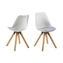 Sada 2 šedo-bílých jídelních židlí Actona Damia