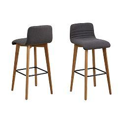 Sada 2 šedých barových židlí Actona Arosa
