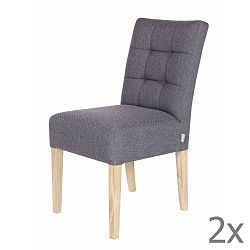 Sada 2 šedých dřevěných židlí De Eekhoorn Tijmen