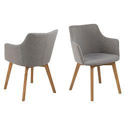 Sada 2 šedých jídelních židlí Actona Bella