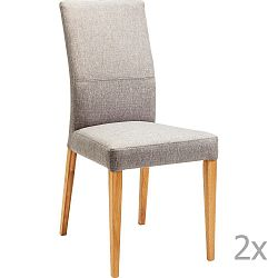Sada 2 šedých jídelních židlí Kare Design Mara
