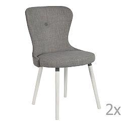 Sada 2 šedých jídelních židlí RGE Betty