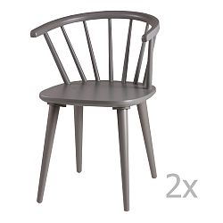 Sada 2 šedých jídelních židlí sømcasa Anya