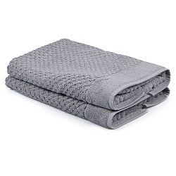 Sada 2 šedých ručníků Beverly Hills Polo Club Mosley, 50x80cm