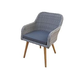 Sada 2 šedých zahradních jídelních židlí Ezeis Clipper