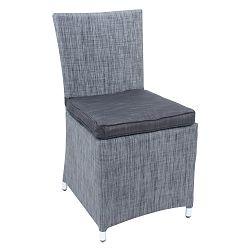 Sada 2 šedých zahradních židlí s podsedákem ADDU Odessa Chair
