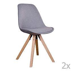 Sada 2 šedých židlí House Nordic Bergen