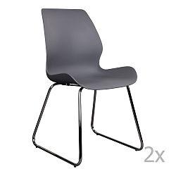 Sada 2 šedých  židlí House Nordic Sola
