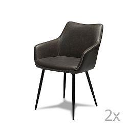 Sada 2 šedých židlí Knuds Maria