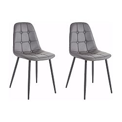 Sada 2 šedých židlí Støraa Lamar