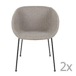 Sada 2 šedých  židlí Zuiver Feston