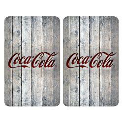 Sada 2 skleněných krytů na sporák Wenko Coca-Cola Wood