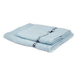Sada 2 světle modrých ručníků Beverly Hills Polo Club Tommy Yazi