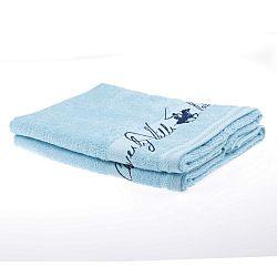 Sada 2 světle modrých ručníků Beverly Hills Polo Club Tommy Yazi, 50x100cm