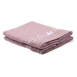 Sada 2 světle růžových ručníků Beverly Hills Polo Club Tommy Yazi, 50x100cm