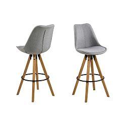 Sada 2 světle šedých barových židlí Actona Dima