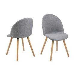 Sada 2 světle šedých jídelních židlí Actona Manley