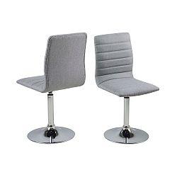 Sada 2 světle šedých jídelních židlí Actona Piper Dining Set