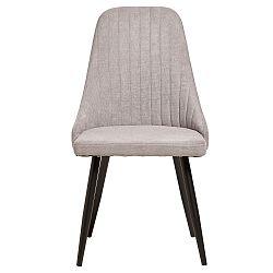 Sada 2 světle šedých jídelních židlí Marckeric Mina