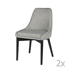 Sada 2 světle šedých židlí De Eekhoorn Koen