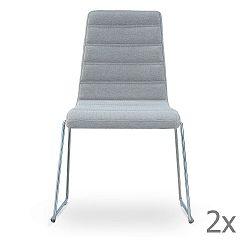 Sada 2 světle šedých židlí Garageeight