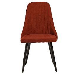 Sada 2 tmavě červených jídelních židlí Marckeric Mina