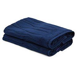 Sada 2 tmavě modrých ručníků Beverly Hills Polo Club Gartex, 50x75cm