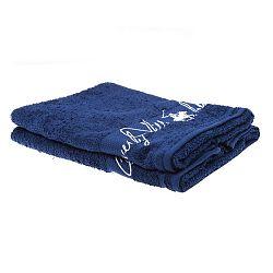 Sada 2 tmavě modrých ručníků Beverly Hills Polo Club Tommy Yazi, 50x100cm