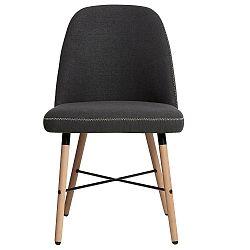 Sada 2 tmavě šedých jídelních židlí Marckeric Cancun