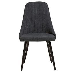 Sada 2 tmavě šedých jídelních židlí Marckeric Mina